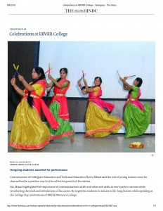 Celebrations at RBVRR College - Telangana - The Hindu-1
