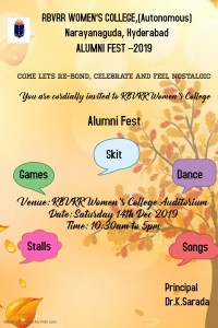 ALumni rbvrr fest invitation card